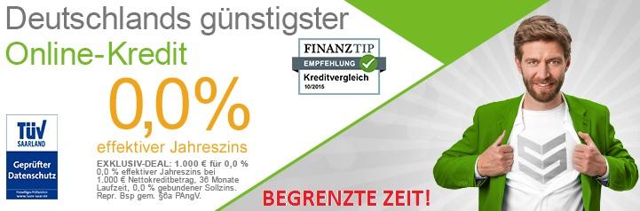 1000EURO Kredit ab nur 0% Zinsen!